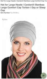🚚 Headcovers bamboo large comfort cap turban
