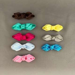 🚚 Hair Clips / bow clips / bow hair clips / alligator clips / pink bow / pink hair clip