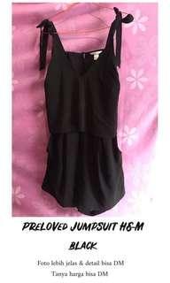 H&M jumpsuit hitam kece
