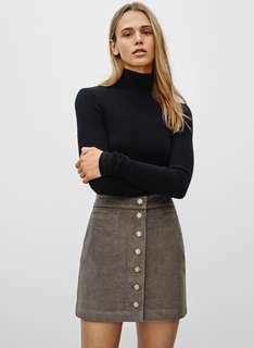 Aritzia Wilfred Karmen Skirt in Earthy