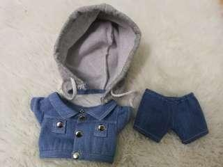 20cm/ 25cm doll denim set
