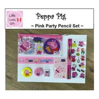 Peppa Pig Party Pencil Set Pink or Blue