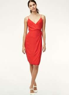 Aritzia Babaton Neval Dress in Flame Scarlet