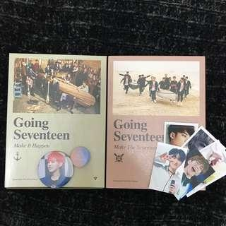 Going Seventeen Albums + poster and freebies #SwapAU