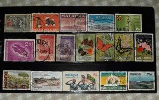 Stamps Malaysia 1957-1980 (35 pcs)