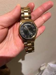 Michael kors gold watch with black dial