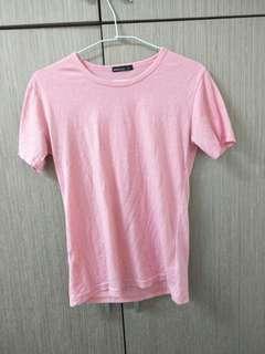 🚚 粉色上衣素T