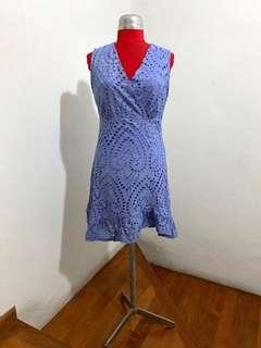 🚚 Periwinkle eyelet dress