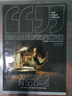 🚚 Broader Perspectives - Essay Issue