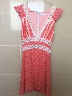 Sweet Pot Red/Pink Dress - Size 6 used only once