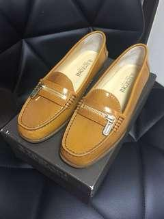 a.testoni shoes in amber + light gold color