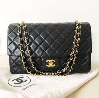11-inch Classic Chanel Flap Bag with 24k gold
