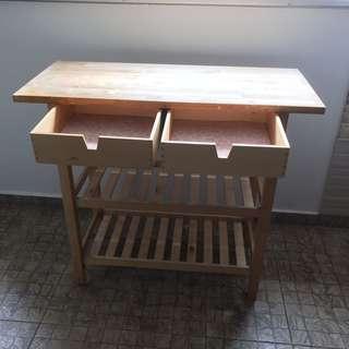 Ikea table TOP, 2 drawers n 2 shelves