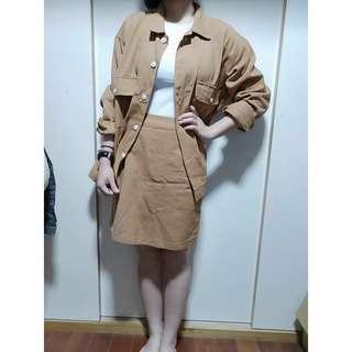 🚚 💕外套+裙子兩件式套裝
