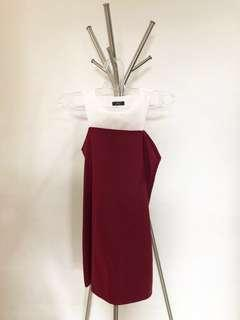 SEMI HALTER RED DRESS #prelovedwithlove #25jan #jan25