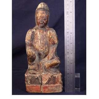 清代 - 漆金觀世音佛像