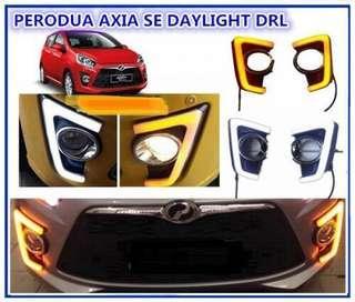Perodua AXIA SE Fog Lamp Cover DRL With Signal light