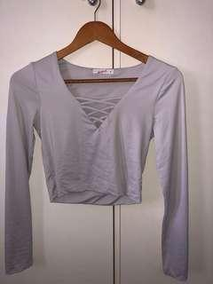 Supre Cropped Long Sleeve Top