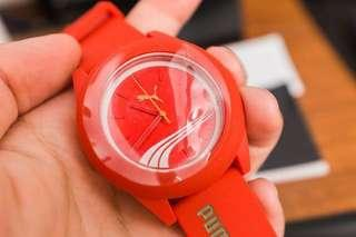 Men's PUMA Red Rubber Fashion Watch PU103971001