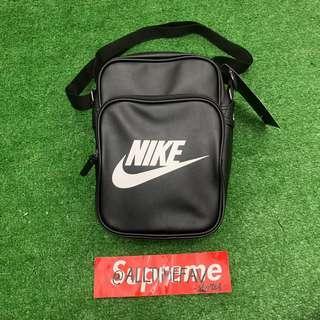 Nike Sling Bag Leather Black Original BNWT