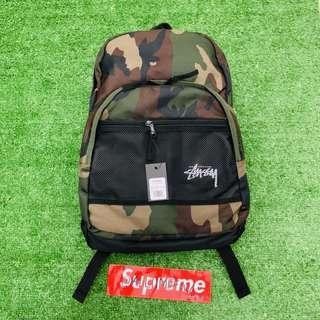 Tas Stussy Backpack Ransel Original Camo Army BNWT