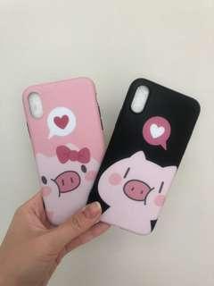 NEW DAPET 2 Case iPhone X Pig Couple