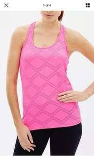 BNWT Running Bare Workout Tank Singlet Diamond Mesh Large 14 12