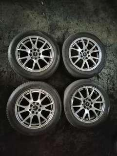 """15""""Sport rim with tyres 4x100 and 4x114.3"""