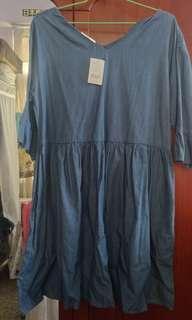 🚚 牛仔洋裝(深藍)(全新未拆牌)