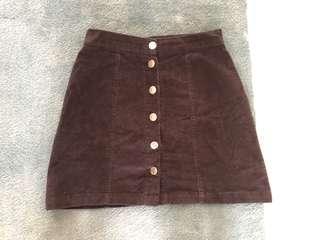 Factorie button up skirt