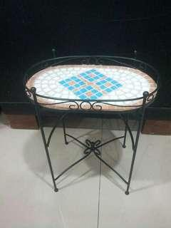 Detachable Iron Wrought Side-Table