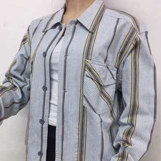 Vintage Calvin Klein Denim Rainbow Jacket 復古 古著 牛仔外套 香港製