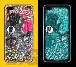 Koi lucky luminescent tempered glass iPhone casing