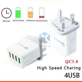 Qualcomm 4 Ports USB Quick Charge 3.0 Wall Charger