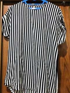 Stripes Oversized Blouse