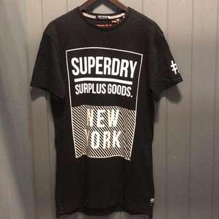 🚚 Superdry 極度乾燥 短袖T恤 短T 長版 全新 M號 Longline/Tee fit
