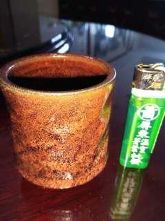 手拉胚茶杯