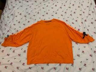 Long sleeve florescent orange