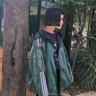 ✨ green run dmc jersey hoodie jacket