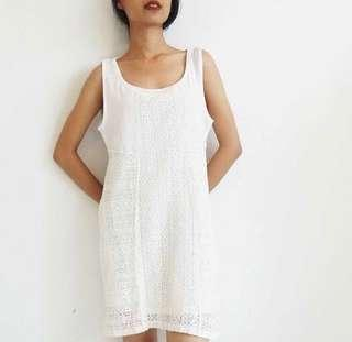 Pull&Bear White Lace Dress