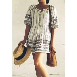 Boho summer Beach mini dress