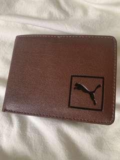 🚚 Puma leather brown wallet