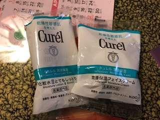 Curel 化妝水10ml及面霜4g