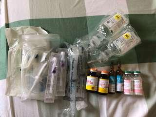 2sets of Snow white drip (MEDS ONLY NO IV)