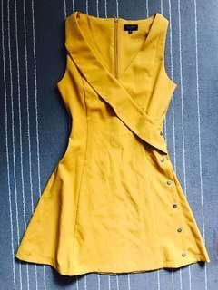 Zalora mustard yellow work Dress