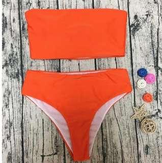 Orange tube bikini