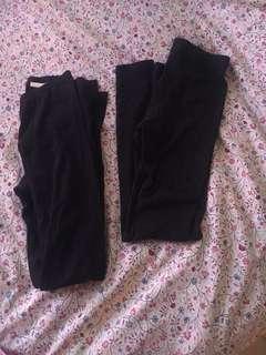 H&m black leggings set