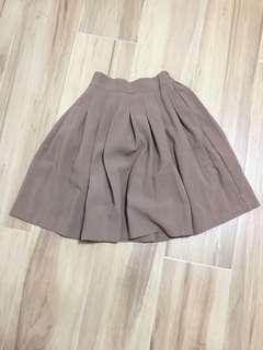 啡色OL裙