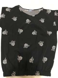 OWL designed blouse