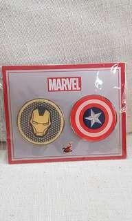 Iron Man and Captain America (Avengers) Pin